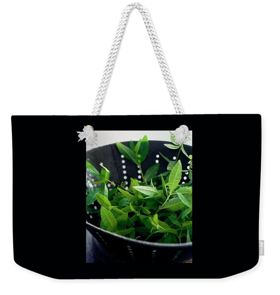 Lemon Verbena Herbs Weekender Tote Bag
