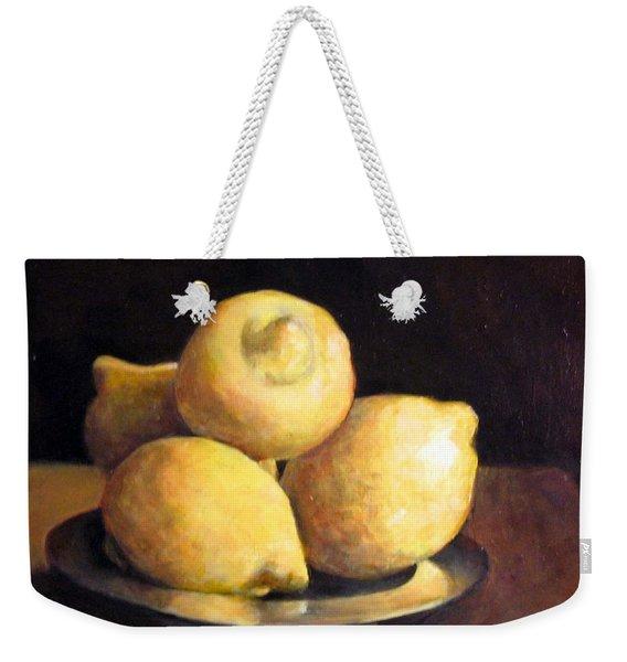Lemons Weekender Tote Bag