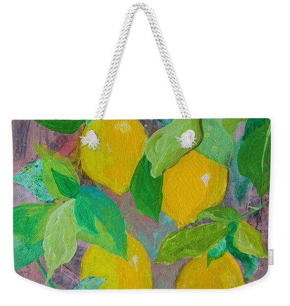 Lemons On Lemon Tree Weekender Tote Bag