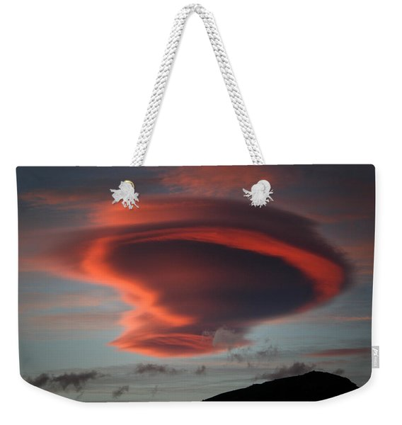 Lenticular Cloud Over Schooner Bay  Weekender Tote Bag