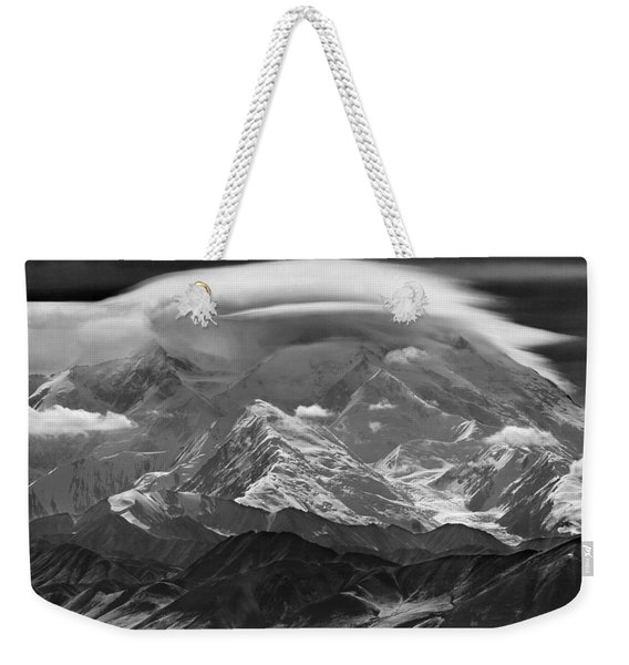 101366-lenticular Cloudcap Over Mt. Mckinley Weekender Tote Bag