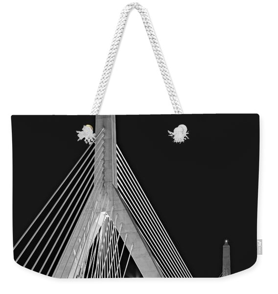 Leonard P. Zakim Bunker Hill Memorial Bridge Bw II Weekender Tote Bag