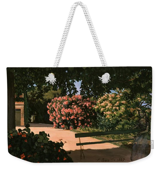 Les Lauriers Roses, 1867 Oil On Canvas Weekender Tote Bag