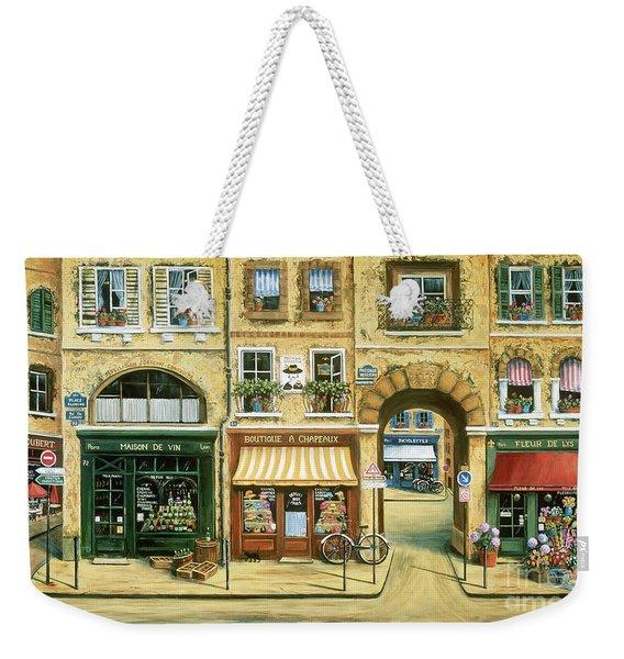 Les Rues De Paris Weekender Tote Bag