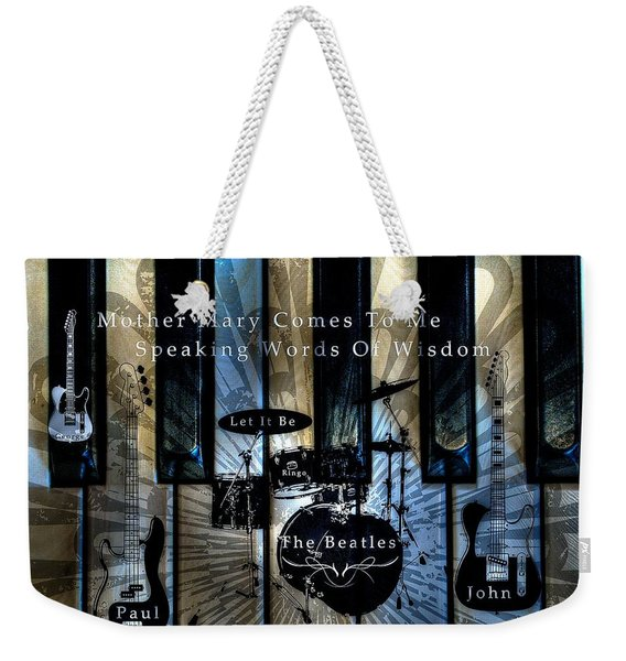Let It Be Tone Mapped Weekender Tote Bag