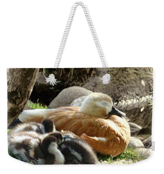 Let Sleeping Ducks Lie Weekender Tote Bag