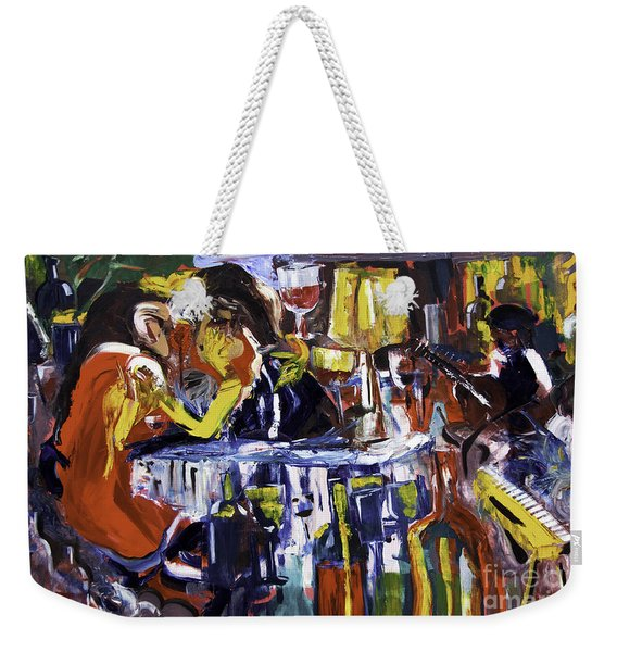 Let's Pay And Go Weekender Tote Bag
