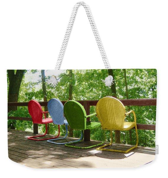 Let's Sit Weekender Tote Bag