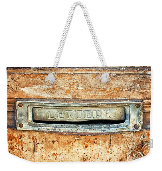 Lettere Letters Weekender Tote Bag