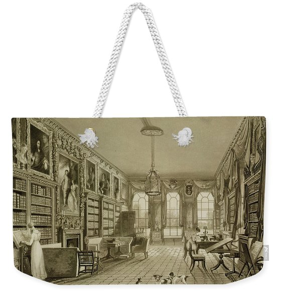 Library As Sitting Room, Cassiobury Weekender Tote Bag