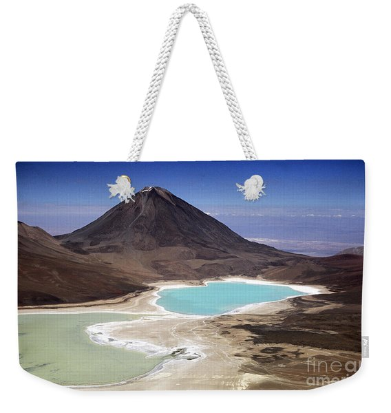 Licancabur Volcano And Laguna Verde Weekender Tote Bag