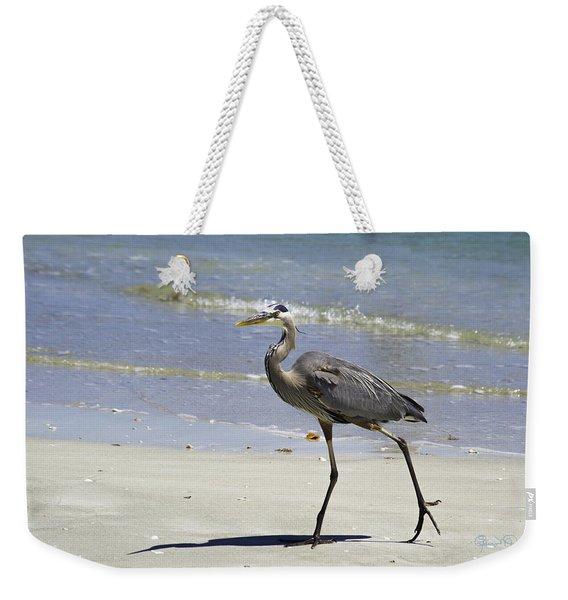 Lido Beach Blue Weekender Tote Bag