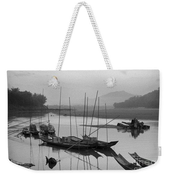 life at Mae Khong river Weekender Tote Bag