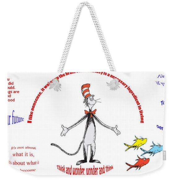 Life Words - Dr Seuss Weekender Tote Bag