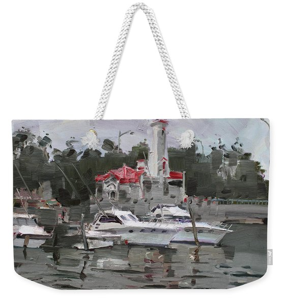 Light House In Mississauga On Weekender Tote Bag