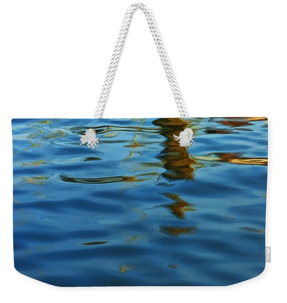 Light Reflections On The Water By A Dock At Aransas Pass Weekender Tote Bag