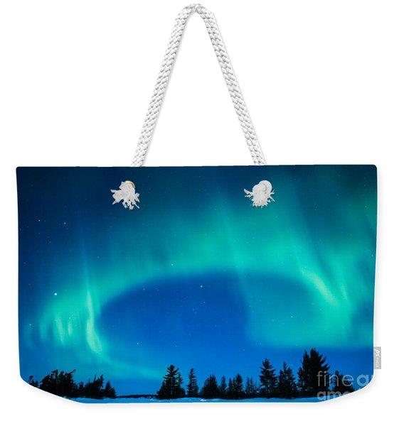 Light Swirl On Rainy Lake Weekender Tote Bag