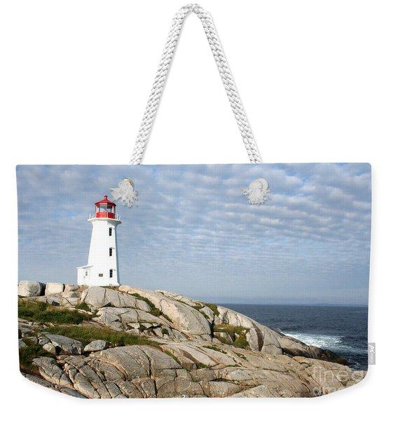 Lighthouse At Peggys Point Nova Scotia Weekender Tote Bag