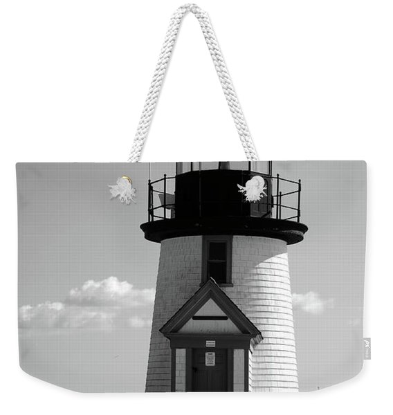 Lighthouse On Nantucket Bw Weekender Tote Bag