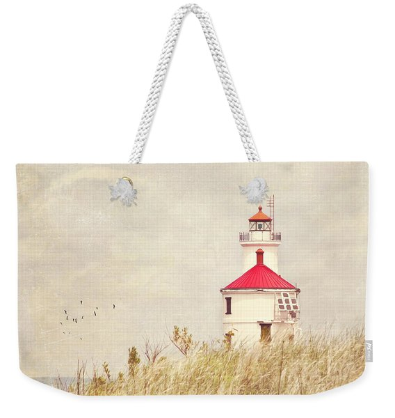 Lighthouse With Red Roof Weekender Tote Bag