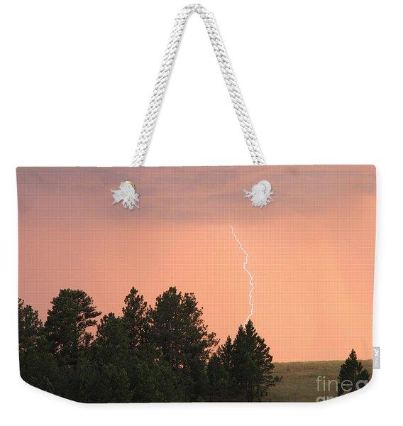 Lighting Strikes In Custer State Park Weekender Tote Bag