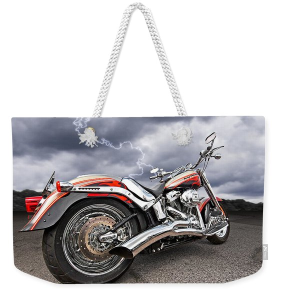 Lightning Fast - Screamin' Eagle Harley Weekender Tote Bag