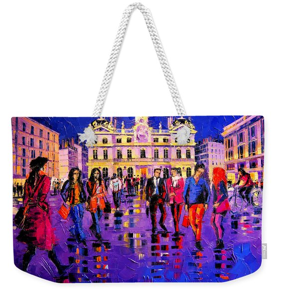 Lights And Colors In Terreaux Square Weekender Tote Bag