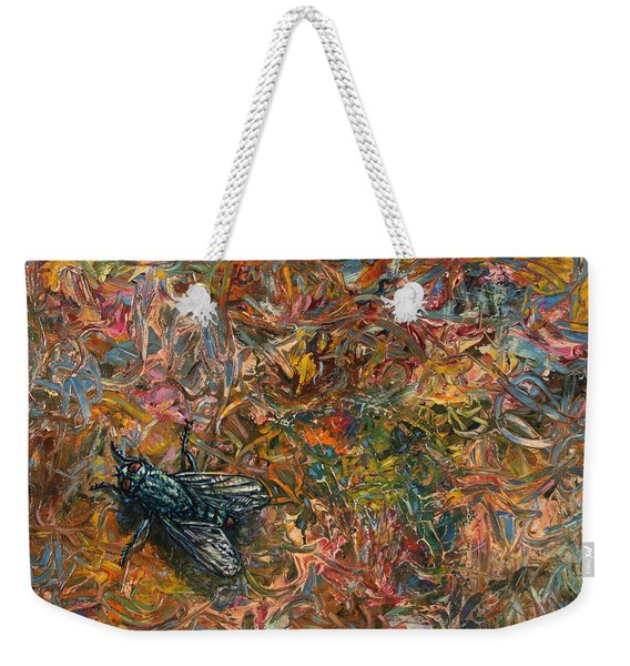 Like A Fly On Paint Weekender Tote Bag