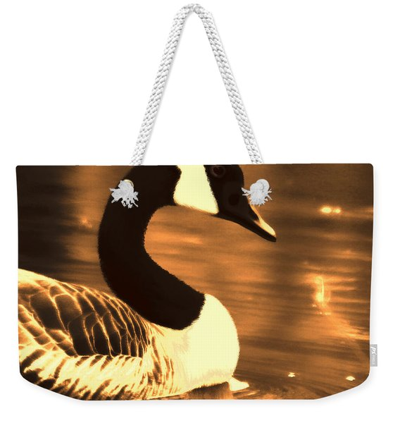 Lila Goose The Pond Queen Sepia Weekender Tote Bag