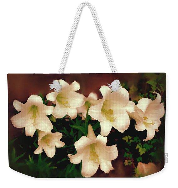 Lilies Aglow Weekender Tote Bag