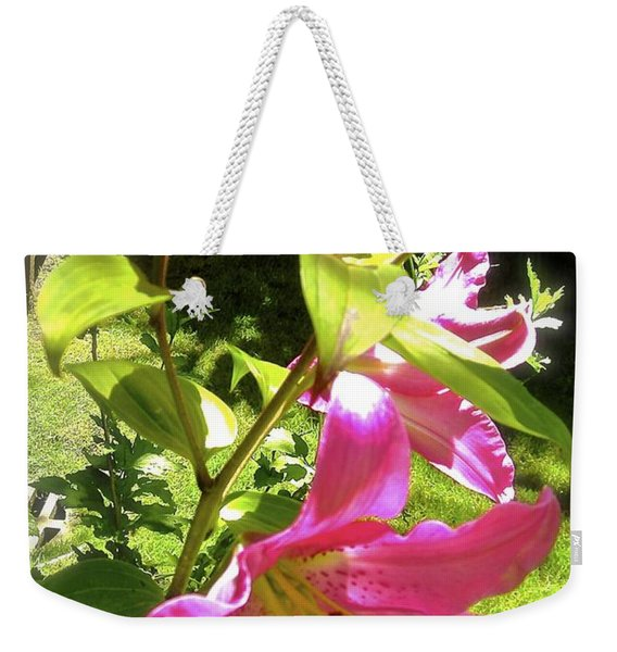Lilies In The Garden Weekender Tote Bag