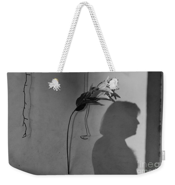 Lily And Male Figure Shadow Weekender Tote Bag