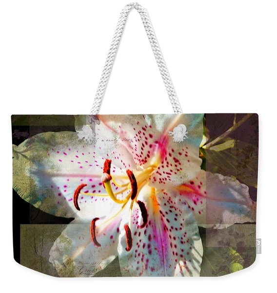 Lily From Whitefish Point Michigan Weekender Tote Bag