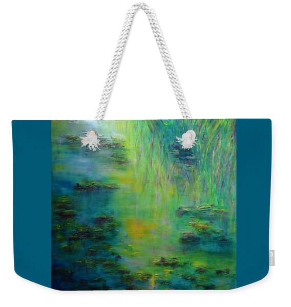 Lily Pond Tribute To Monet Weekender Tote Bag