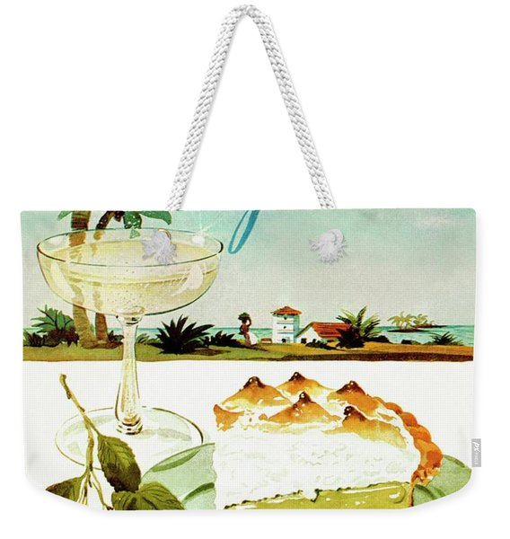Lime Meringue Pie With Champagne Weekender Tote Bag