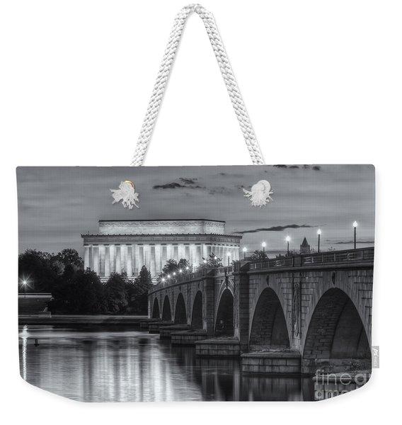 Lincoln Memorial And Arlington Memorial Bridge At Dawn II Weekender Tote Bag