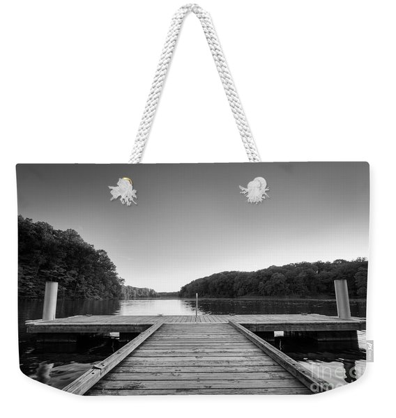 Lincoln Trail State Park Lake Bw Weekender Tote Bag