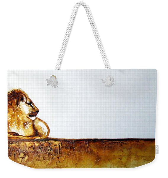Lion And Lioness - Original Artwork Weekender Tote Bag