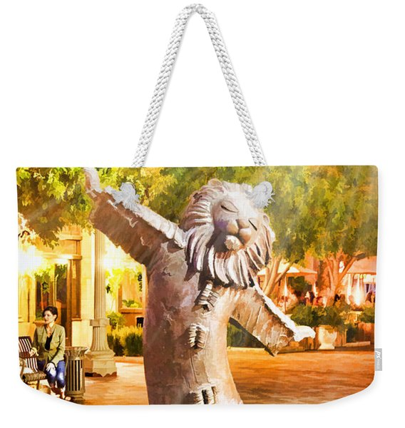 Lion Fountain Weekender Tote Bag