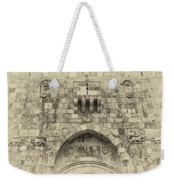 Lion Gate Jerusalem Old City Israel Weekender Tote Bag