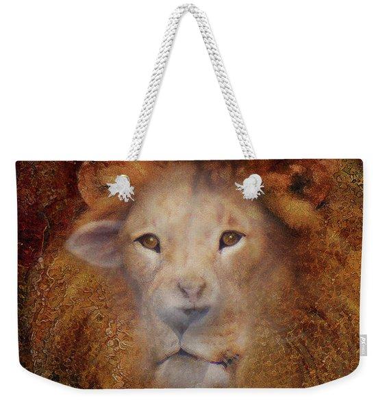 Lion Lamb Face Weekender Tote Bag