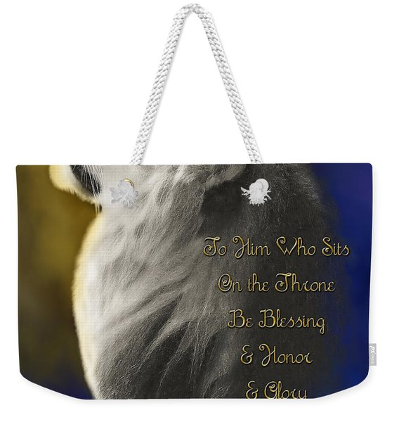 Lion Adoration Weekender Tote Bag