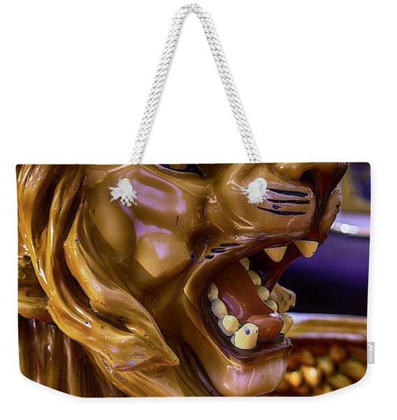 Lion Roaring Carrousel Ride Weekender Tote Bag