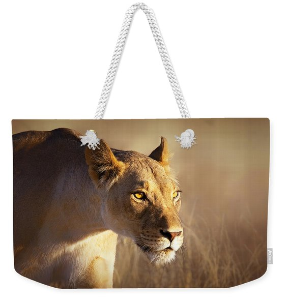 Lioness Portrait-1 Weekender Tote Bag