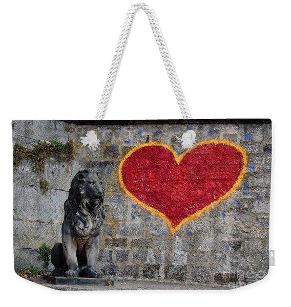Lionheart Weekender Tote Bag