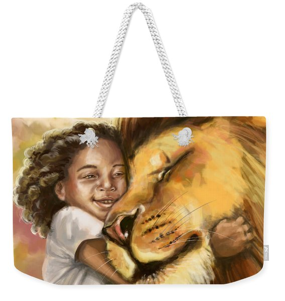 Lion's Kiss Weekender Tote Bag