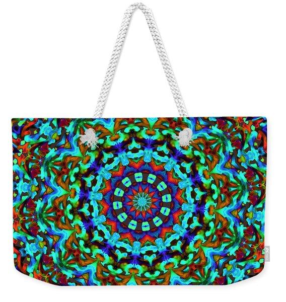 Liquid Dream Kaleidoscope Weekender Tote Bag