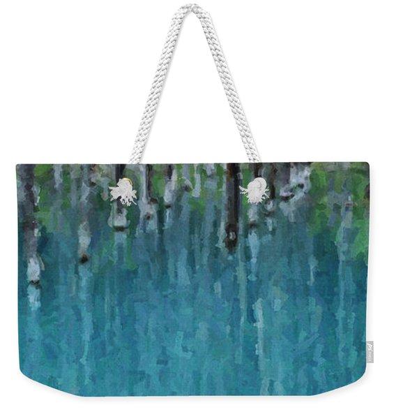 Liquid Forest Weekender Tote Bag
