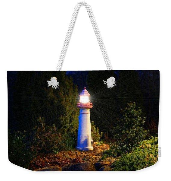 Lit-up Lighthouse Weekender Tote Bag
