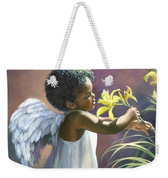 Little Black Angel Weekender Tote Bag